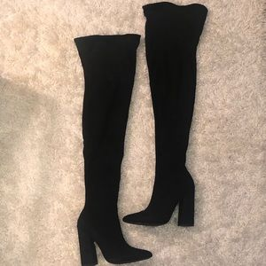 Black Thigh High Boots!